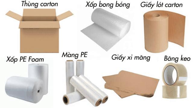 Những vật tư dùng để đóng gói trong quá trình chuyển nhà